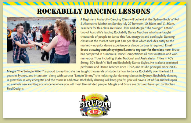 Rocknroll markets dance classes